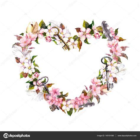 imagenes flores en forma de corazon guirnalda floral en forma de coraz 243 n flores de color