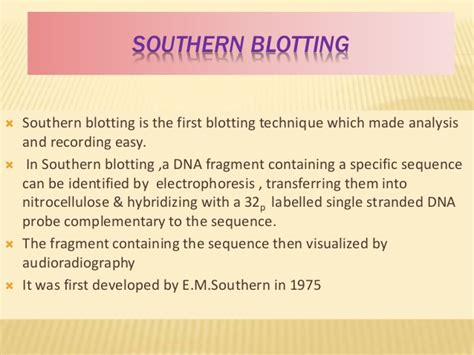 Blot Then Re Apply by Blotting Techniques Includes Southren Northern Western And