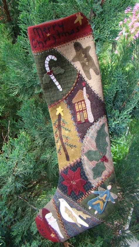 pattern for crazy quilt christmas stocking the 21 best images about christmas stockings on pinterest