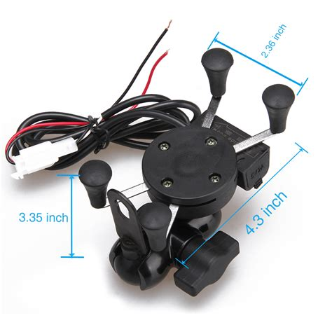 cell phone holder charger universal motorcycle mtb atv handlebar mount holder usb