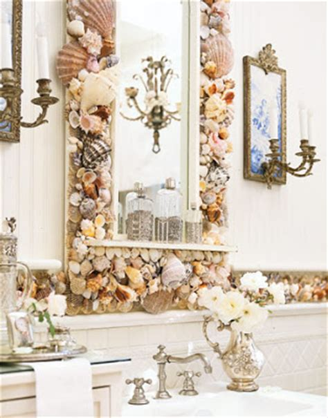 shell bathroom mirror the sunny sunflower house sea shell theme bathroom