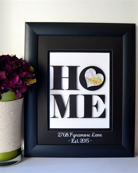 cool housewarming gifts for her unique housewarming gift new home address art by