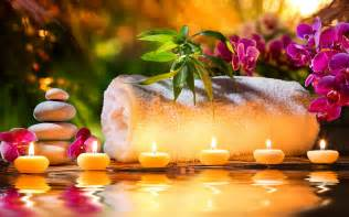 Spa Pics Spa Stones Candles Decoration Wallpapers Pictures