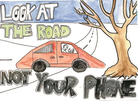 poster design road safety madeline wins road safety poster comp forbes advocate