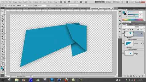 Photoshop Folded Paper Effect - photoshop 2d fold effect tutorial