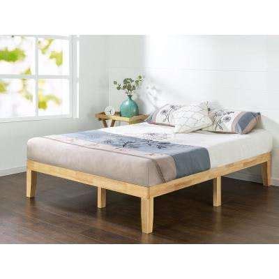 natural wood bed frame bed frames bedroom furniture the home depot