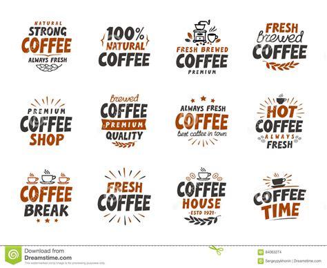 design elements of a coffee shop set of vector coffee elements symbols for menu design