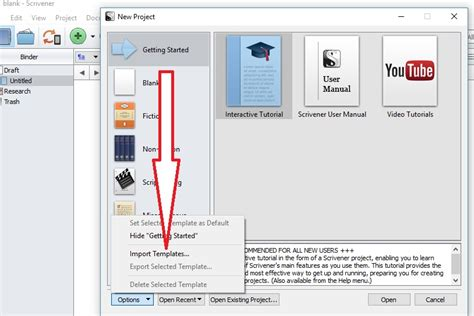 download free scrivener templates