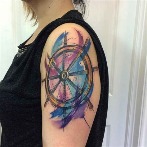 ship steering wheel tattoo meaning www imgkid com the