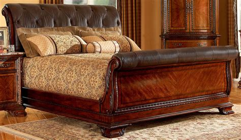 king size sleigh beds king size cherry sleigh bed plan suntzu king bed
