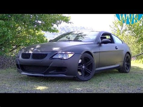 matte black bmw e63 m6 v10 with custom exhaust | feature
