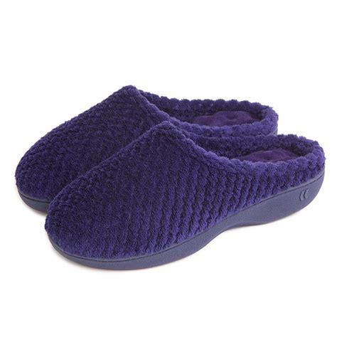 isotoner mule slippers isotoner popcorn terry mule slippers totes isotoner