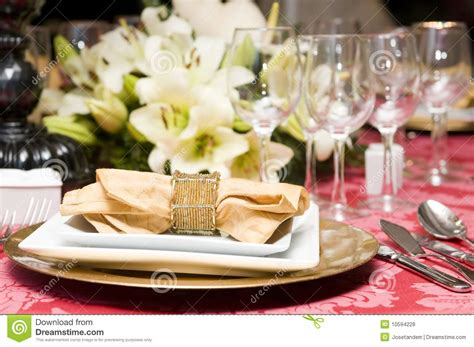 fancy table set for a dinner royalty free stock image fancy table set for a wedding celebration stock photo