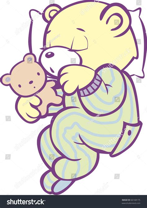 teddy bear in pajamas coloring page sleeping teddy bear striped pajamas full stock vector