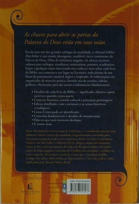 libro el manual biblico macarthur manual b 237 blico macarthur r 47 14 em mercado livre