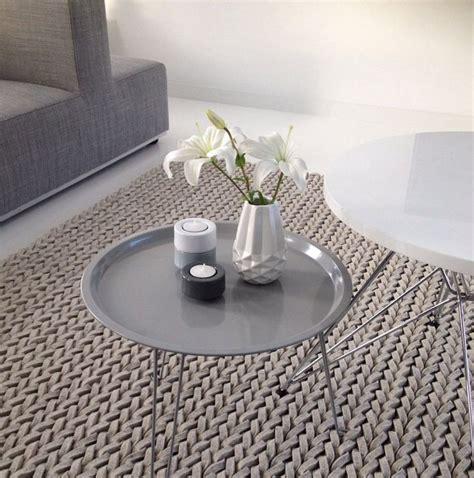 Karpet Anyaman Lingkaran Ikea Stickat vloerkleed gevlochten mdf lakken hoogglans