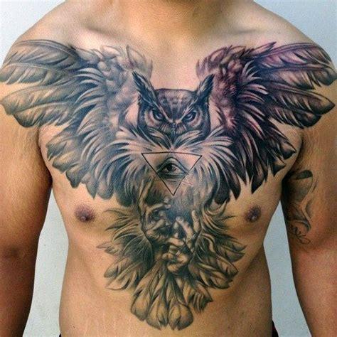 eye tattoo kerri chandler 70 owl chest tattoo designs for men nocturnal ink ideas