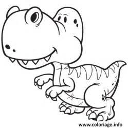 coloriage dinosaure facile gentil dessin