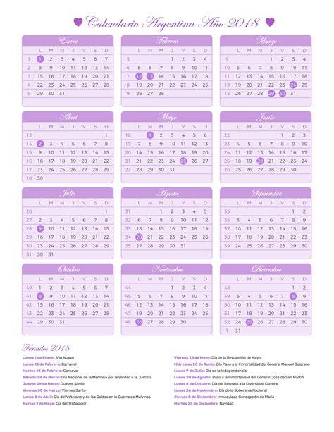 Calendario Argentina 2018 Calendario Argentina A 241 O 2018 Feriados