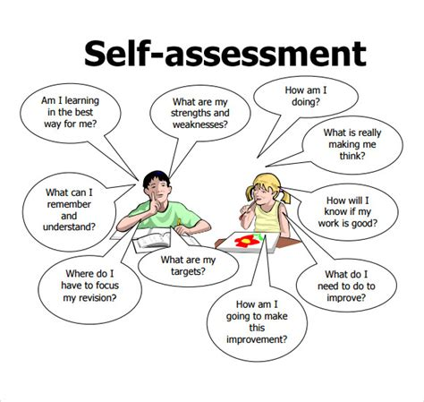 self assessment exle self assessment 7 free sles exles format