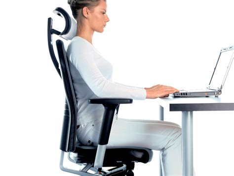 Desk Chair With Headrest by Profim One Ergonomic Chair With User Backbone Based