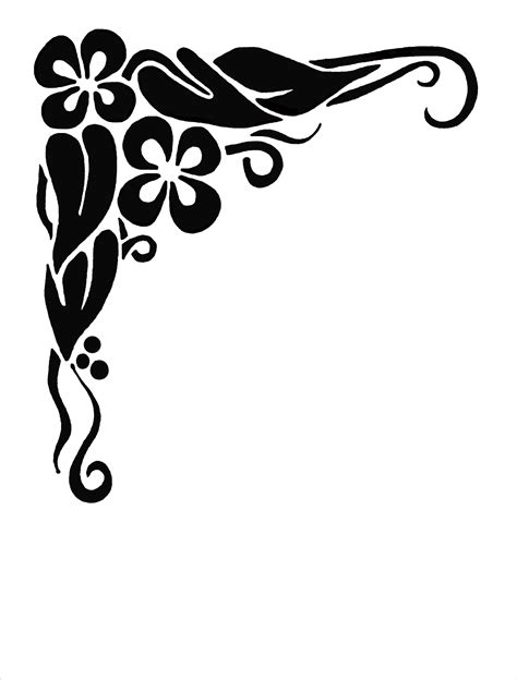 cornici clip floral corner borders clipart cliparts and others
