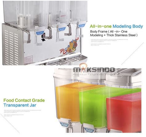Mesin Juicer Dispenser jual mesin juice dispenser 3 tabung 17 liter dsp17x3
