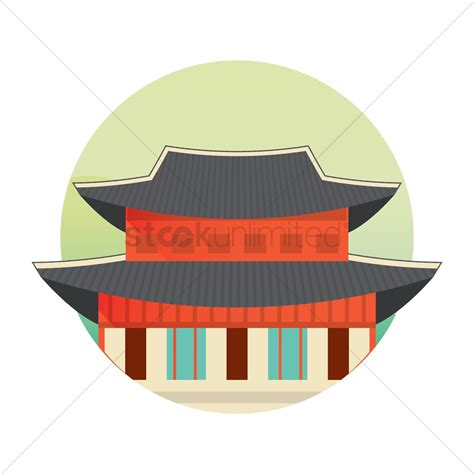 clipart korean korean traditional building vector image 2014134
