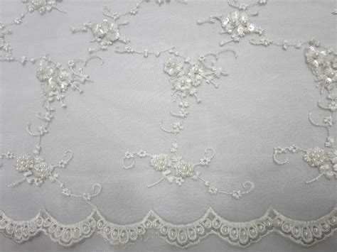 white beaded lace white embroidered beaded lace sequin mesh fabric fabric