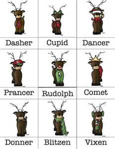 names santa reindeer xmas jays reindeer