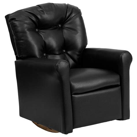 child rocker recliner kids black vinyl rocker recliner yg rr 6 gg