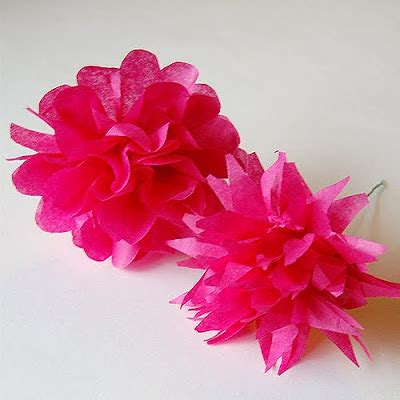 Flower Using Tissue Paper - the craftinomicon tissue paper flowers
