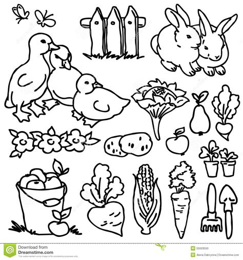 garden creatures coloring pages cute cow cartoon on flower garden stock photography
