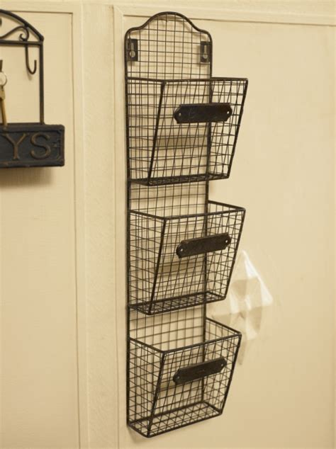 Letter Storage Rack by Wirework Industrial Style Wall Post Letter Paper Rack Iron