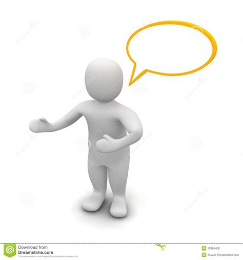 bobble person with empty speech stock illustration