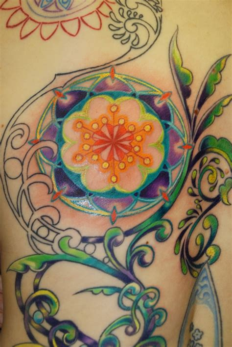 mandala vine tattoo psychedelic cosmos flower tattoo ideas pinterest