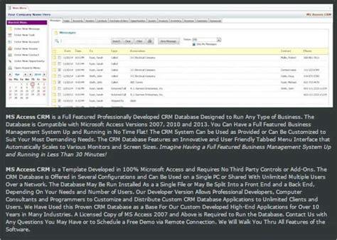 29 Microsoft Access Templates Free Premium Templates Microsoft Access Crm Template