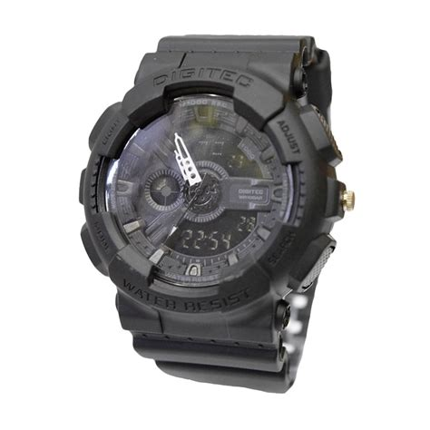 Jam Tangan Pria Digitec Dg 3054 Rubber Black List Abu Original jual digitec dg2020tfbl jam tangan pria black