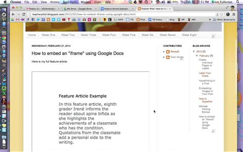html tutorial embed video how to embed google docs into a webpage using iframe youtube