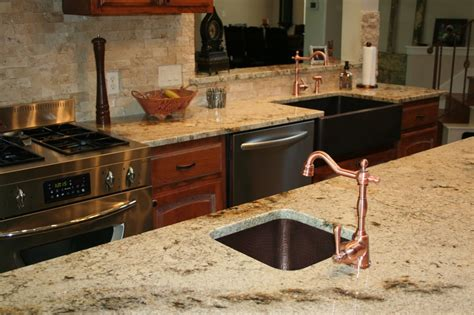How To Install Backsplash Tile In Kitchen sienna beige granite countertops yelp