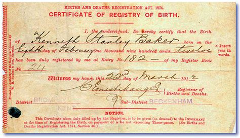 Scottish Records Of Births Deaths And Marriages How To Obtain A Copy Of Birth Certificate