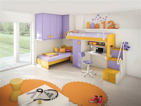 camerette per bambini 2 letti cameretta per bambini colorata con due letti a soppalco