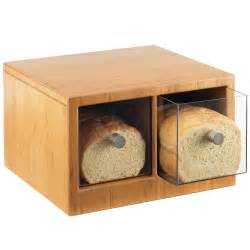 cal mil 1337 60 bamboo two drawer bread bin 14 quot x 13 1 2