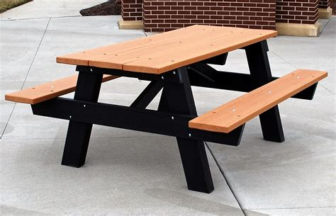 plastic picnic table a frame recycled plastic picnic table park warehouse
