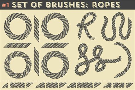 illustrator rope pattern brush download 5in1 mega bundle v 15 vintage graphics dealjumbo com