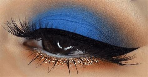 imagenes de ojos grandes maquillados maquillaje de ojos tono azul ideal para morenas consejos