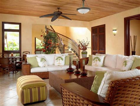 simple ways to decorate your living room easy ways to decorate a small living room with woven rattan sofa and ceiling fan using staircase