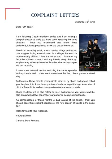 Complaint Letter To Advertising Company Letters Of Complaint