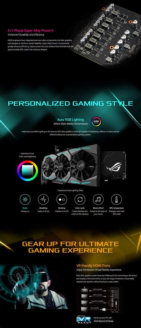 Vga Asus Geforce Rog Strix Gtx1060 6g Gaming 6gb Gddr5 asus rog geforce gtx 1060 strix gaming 6gb strix gtx1060