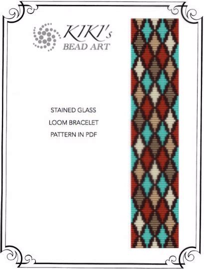 Bead Loom Pattern Stained Glass Inspired Loom